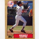 1987 Topps Baseball #174 Henry Cotto - New York Yankees
