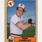 1987 Topps Baseball #154 Tom O'Malley - Baltimore Orioles