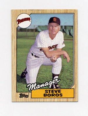 1987 Topps Baseball 143 Steve Boros Mg San Diego Padres