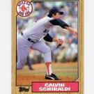 1987 Topps Baseball #094 Calvin Schiraldi - Boston Red Sox