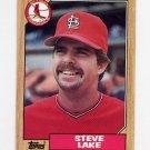 1987 Topps Baseball #084 Steve Lake - St. Louis Cardinals