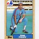 1987 Topps Baseball #078 Tom Foley - Montreal Expos