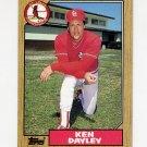 1987 Topps Baseball #059 Ken Dayley - St. Louis Cardinals
