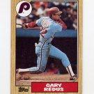 1987 Topps Baseball #042 Gary Redus - Philadelphia Phillies