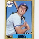 1987 Topps Baseball #026 Greg Brock - Los Angeles Dodgers