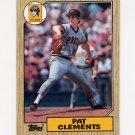 1987 Topps Baseball #016 Pat Clements - Pittsburgh Pirates