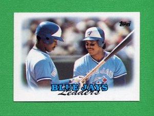 1988 Topps Baseball 729 Toronto Blue Jays Team Leaders