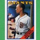1988 Topps Baseball #677 Eddie Milner - San Francisco Giants
