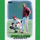 1988 Topps Baseball #669 Philadelphia Phillies Team Leaders / Lance Parrish / Mike Ryan CO