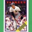 1988 Topps Baseball #636 Charles Hudson - New York Yankees