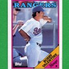 1988 Topps Baseball #594 Bobby Valentine MG / Texas Rangers Team Checklist