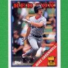 1988 Topps Baseball #493 Mike Greenwell - Boston Red Sox
