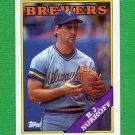 1988 Topps Baseball #491 B.J. Surhoff - Milwaukee Brewers