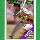 1988 Topps Baseball #448 Mike Davis - Oakland A's