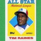 1988 Topps Baseball #403 Tim Raines AS - Montreal Expos