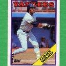 1988 Topps Baseball #235 Gary Ward - New York Yankees