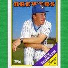 1988 Topps Baseball #224 Tom Trebelhorn MG / Milwaukee Brewers Team Checklist NM-M