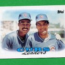 1988 Topps Baseball #171 Chicago Cubs Team Leaders / Shawon Dunston / Manny Trillo