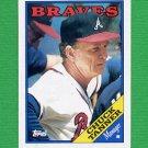 1988 Topps Baseball #134 Chuck Tanner MG / Atlanta Braves Team Checklist