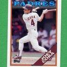 1988 Topps Baseball #091 Joey Cora RC - San Diego Padres
