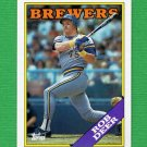 1988 Topps Baseball #033 Rob Deer - Milwaukee Brewers