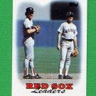 1988 Topps Baseball #021 Boston Red Sox Team Leaders / Wade Boggs / Spike Owen