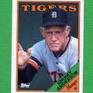 1988 Topps Baseball #014 Sparky Anderson MG / Detroit Tigers Team Checklist