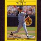 1991 Fleer Baseball #680 Mike Witt - New York Yankees