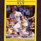 1991 Fleer Baseball #679 Steve Sax - New York Yankees