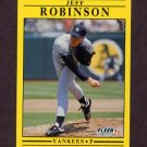 1991 Fleer Baseball #678 Jeff D. Robinson - New York Yankees