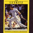 1991 Fleer Baseball #671 Jim Leyritz - New York Yankees