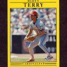 1991 Fleer Baseball #647 Scott Terry - St. Louis Cardinals