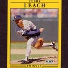 1991 Fleer Baseball #616 Terry Leach - Minnesota Twins
