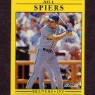 1991 Fleer Baseball #597 Bill Spiers - Milwaukee Brewers