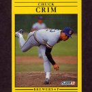 1991 Fleer Baseball #579 Chuck Crim - Milwaukee Brewers