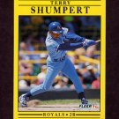 1991 Fleer Baseball #570 Terry Shumpert - Kansas City Royals