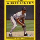 1991 Fleer Baseball #496 Craig Worthington - Baltimore Orioles