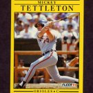 1991 Fleer Baseball #494 Mickey Tettleton - Baltimore Orioles