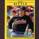 1991 Fleer Baseball #480 Ron Kittle - Baltimore Orioles
