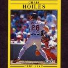 1991 Fleer Baseball #476 Chris Hoiles - Baltimore Orioles
