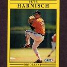 1991 Fleer Baseball #474 Pete Harnisch - Baltimore Orioles