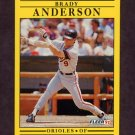 1991 Fleer Baseball #466 Brady Anderson - Baltimore Orioles