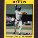 1991 Fleer Baseball #452 Gene Harris - Seattle Mariners