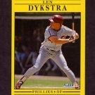 1991 Fleer Baseball #395B Len Dykstra - Philadelphia Phillies