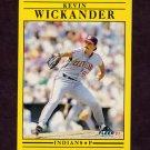 1991 Fleer Baseball #385 Kevin Wickander - Cleveland Indians