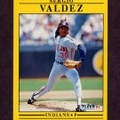 1991 Fleer Baseball #380 Sergio Valdez - Cleveland Indians