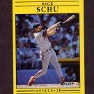 1991 Fleer Baseball #326 Rick Schu - California Angels