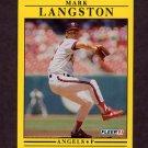 1991 Fleer Baseball #318 Mark Langston - California Angels