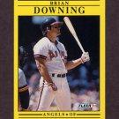 1991 Fleer Baseball #310 Brian Downing - California Angels