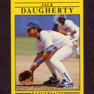 1991 Fleer Baseball #284 Jack Daugherty - Texas Rangers